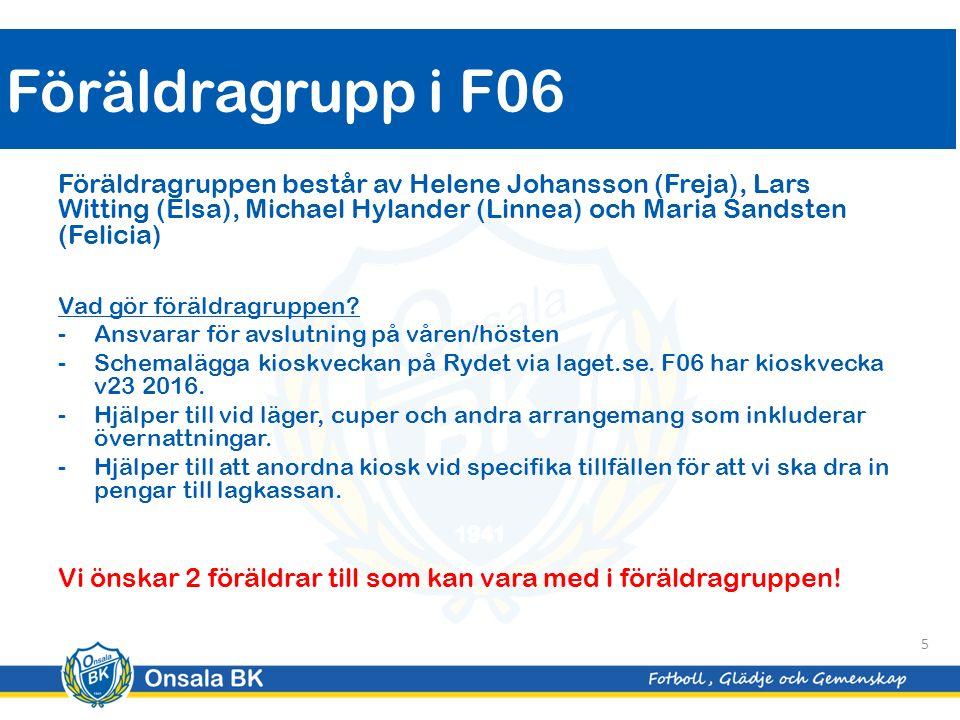 Föräldragruppen består av Helene Johansson (Freja), Lars Witting (Elsa), Michael Hylander (Linnea) och Maria Sandsten (Felicia) Vad gör föräldragruppen.