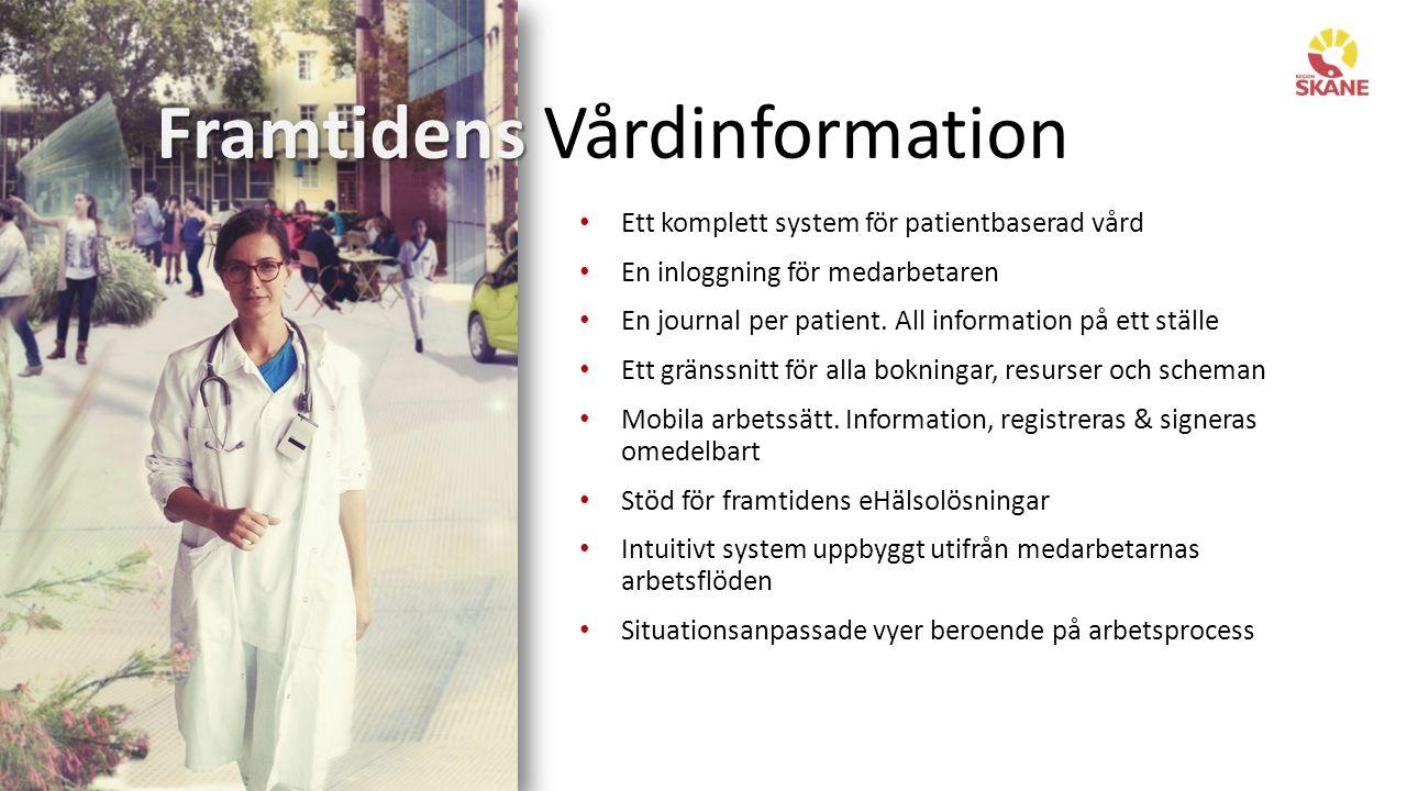 Dagens situation FVI - Framtidens Vårdinformation i Region Skåne