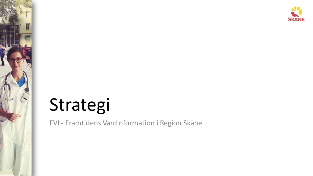 Framtidens Vårdinformation i Region Skåne 7 Strategi Program Delprojekt Vision och målbild Bakgrund och analys Framgångsfaktorer Vägval Sekvens för införande Hantering av beroenden Arkivering / avveckling gamla system Övergripande planering och kommunikation Aktiviteter Tider Resurser Budget