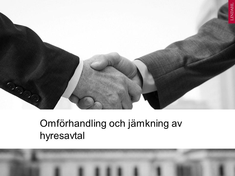 Omförhandling och jämkning av hyresavtal