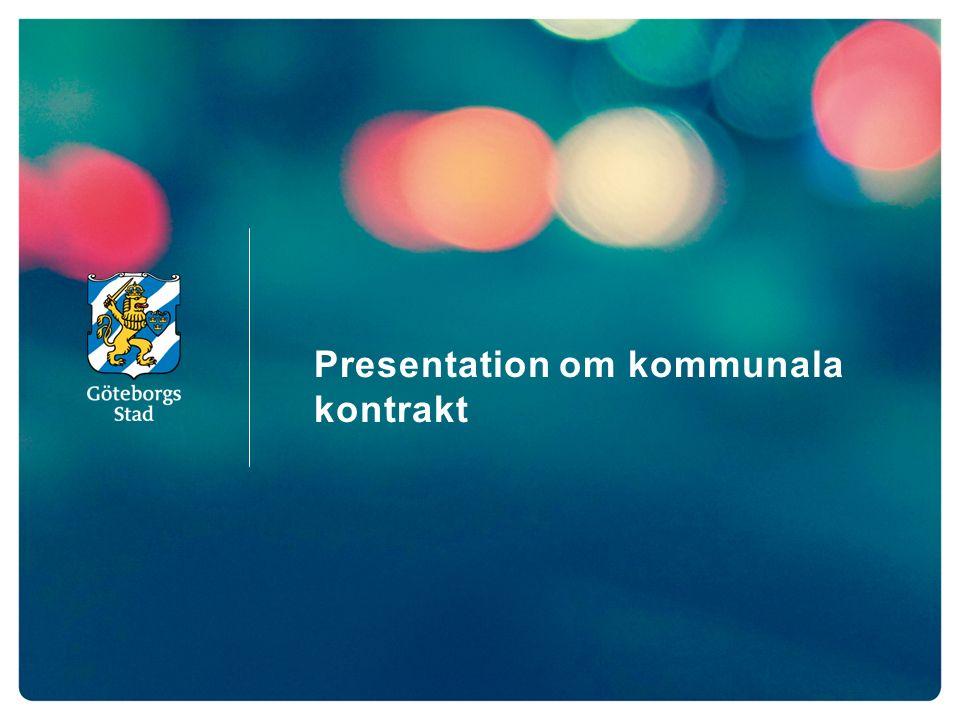 Presentation om kommunala kontrakt