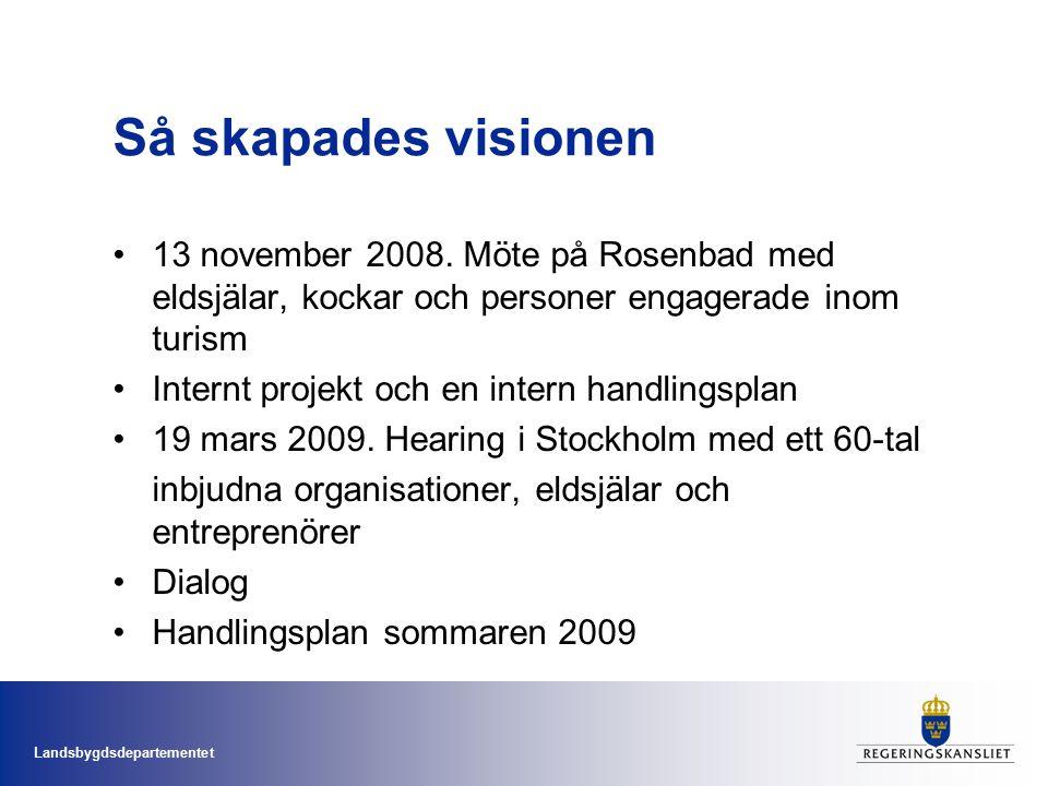 Landsbygdsdepartementet Så skapades visionen 13 november 2008.
