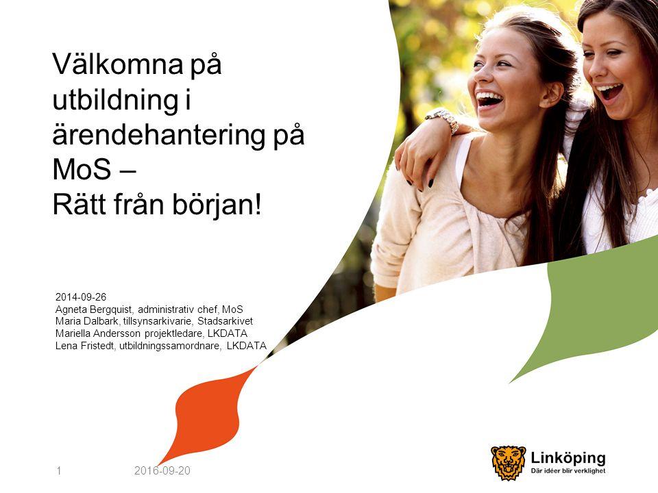 Välkomna på utbildning i ärendehantering på MoS – Rätt från början.
