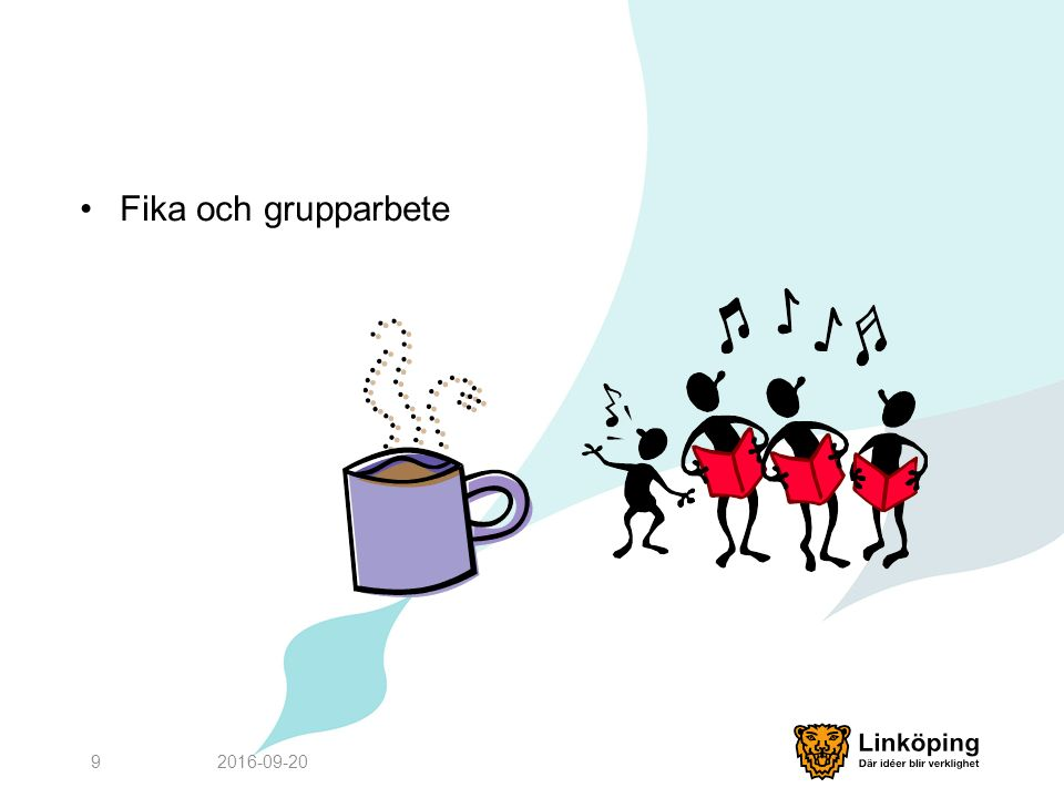 Fika och grupparbete 2016-09-209