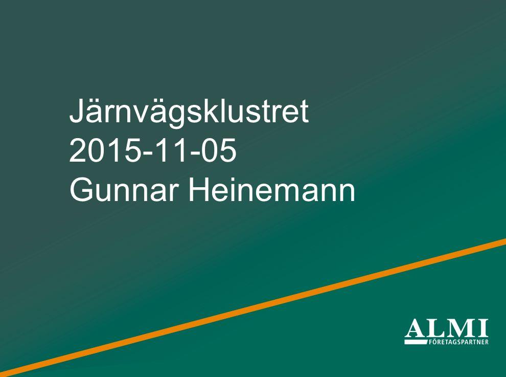 Järnvägsklustret 2015-11-05 Gunnar Heinemann