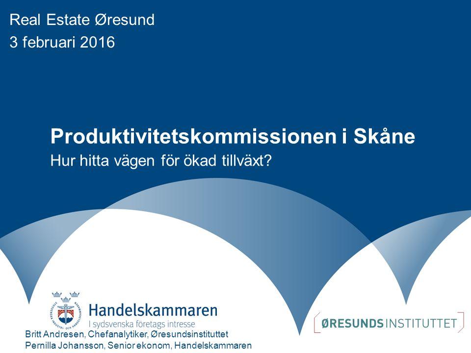 Produktivitetskommissionen i Skåne Hur hitta vägen för ökad tillväxt.
