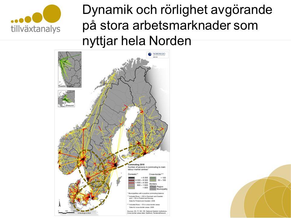 Dynamik och rörlighet avgörande på stora arbetsmarknader som nyttjar hela Norden