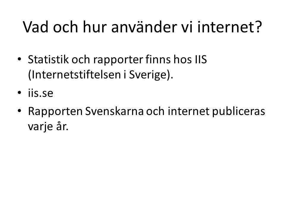 Vad och hur använder vi internet.