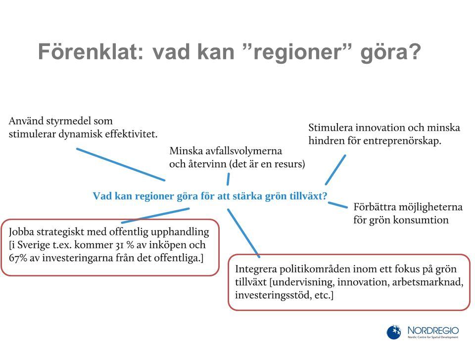 Förenklat: vad kan regioner göra