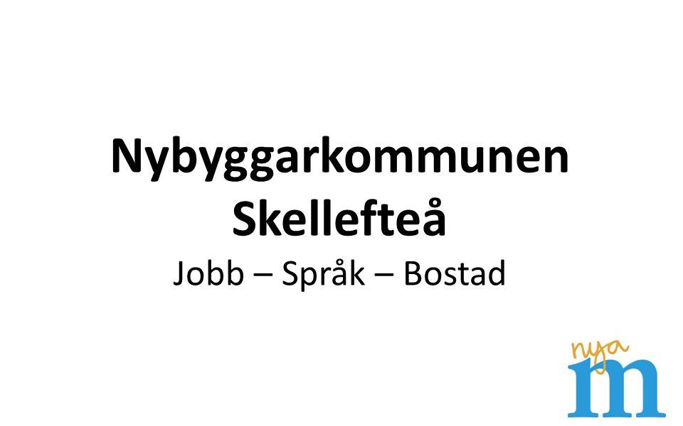 Nybyggarkommunen Skellefteå Jobb – Språk – Bostad