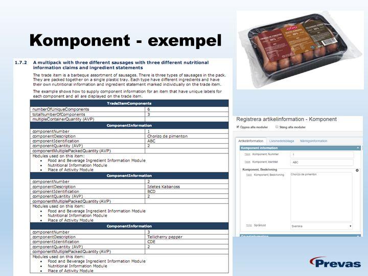 Komponent - exempel