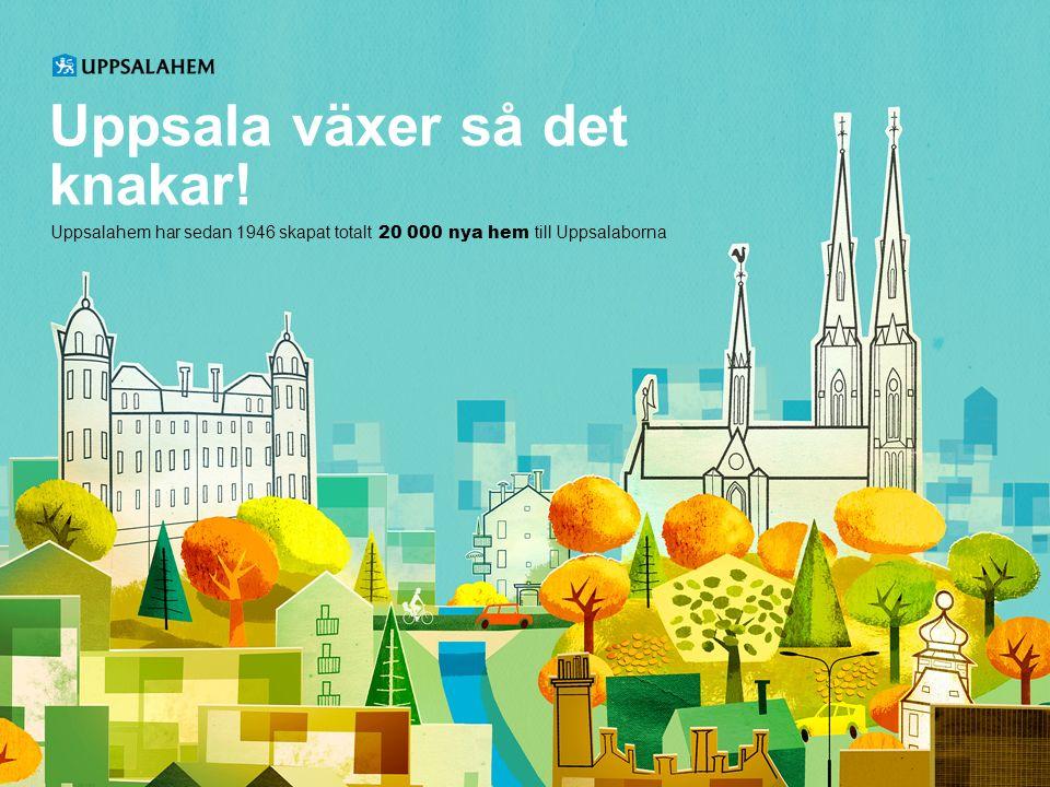 Uppsala växer så det knakar.