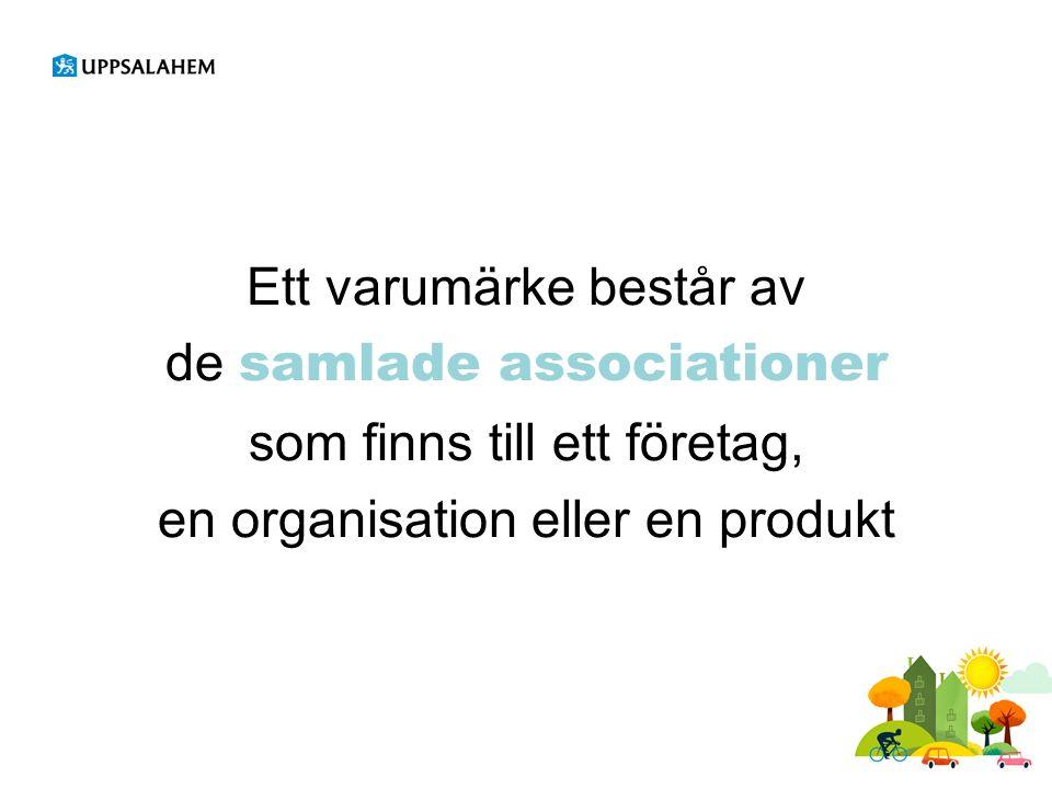 Ett varumärke består av de samlade associationer som finns till ett företag, en organisation eller en produkt
