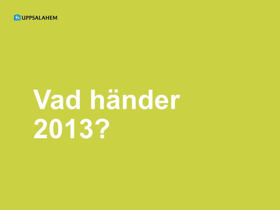 Vad händer 2013?
