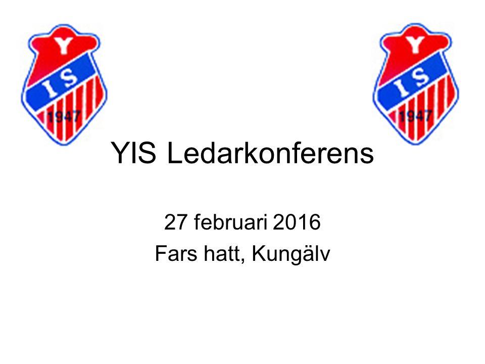 YIS Ledarkonferens 27 februari 2016 Fars hatt, Kungälv