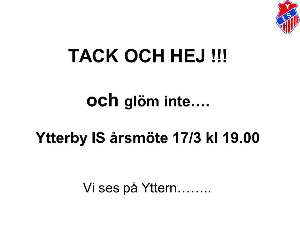 TACK OCH HEJ !!! och glöm inte…. Ytterby IS årsmöte 17/3 kl 19.00 Vi ses på Yttern……..
