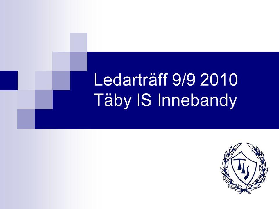 Ledarträff 9/9 2010 Täby IS Innebandy