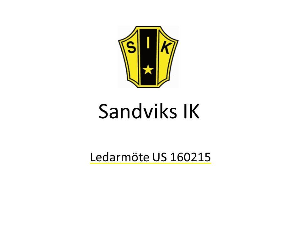 Sandviks IK Ledarmöte US 160215