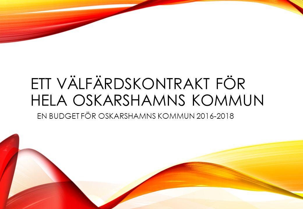 TILLKOMMANDE INVESTERINGAR Skattefinansierade investeringar Satsning på IKT Förskoleplatser i Kikebo Södra infarten samt kombiterminal Avgiftsfinansierade investeringar Vattentäkten Hummeln Reningsverket i Ernemar Oskarshamn Hamn