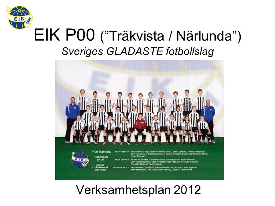 EIK P00 ( Träkvista / Närlunda ) Sveriges GLADASTE fotbollslag Verksamhetsplan 2012