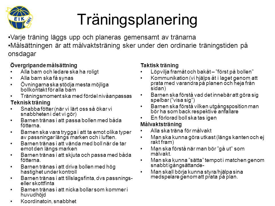 Tävlingsplanering Laguttagning sker efter följande riktlinjer; Vi kommer sträva efter att ha 3 fasta lag, där möjligheten att använda spelare från andra lag ska utnyttjas (P00 och P01).
