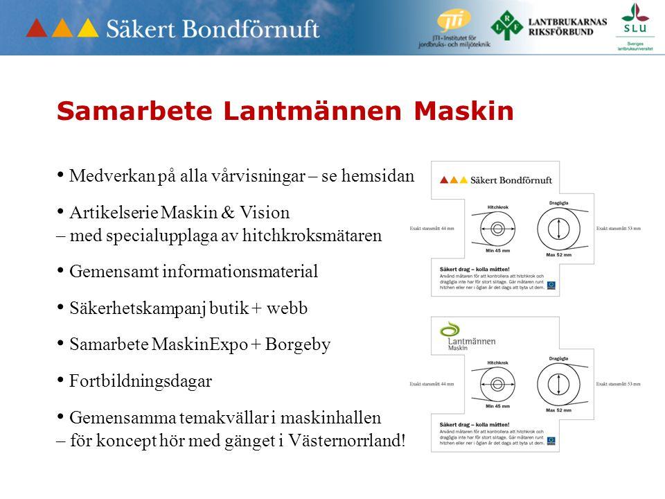 Samarbete Lantmännen Maskin Medverkan på alla vårvisningar – se hemsidan Artikelserie Maskin & Vision – med specialupplaga av hitchkroksmätaren Gemens