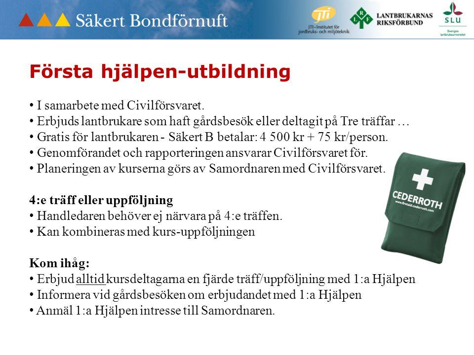 Första hjälpen-utbildning I samarbete med Civilförsvaret.