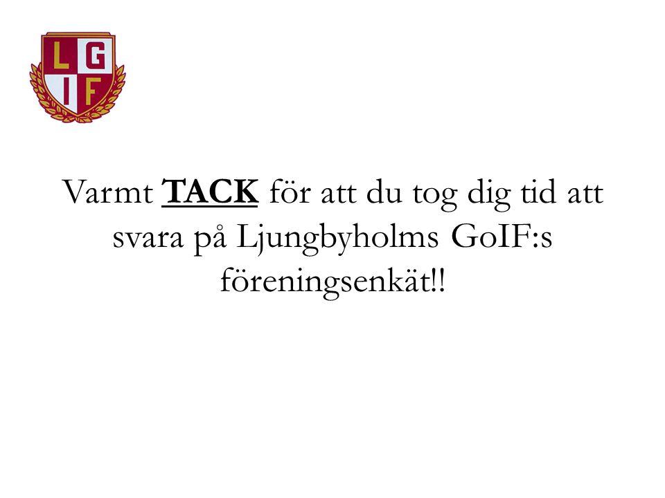 Varmt TACK för att du tog dig tid att svara på Ljungbyholms GoIF:s föreningsenkät!!