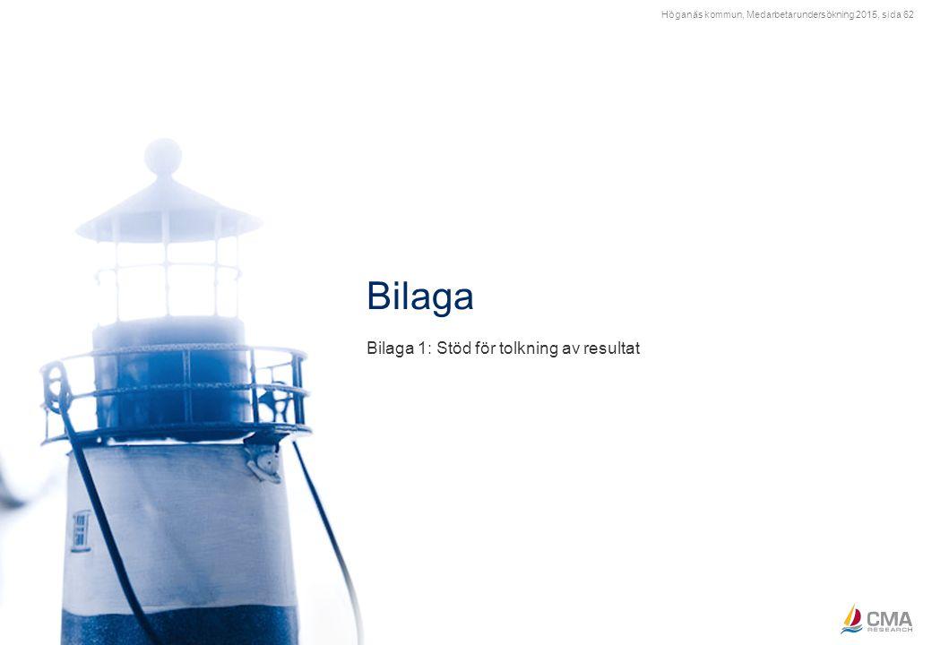 Höganäs kommun, Medarbetarundersökning 2015, sida 62 Bilaga 1: Stöd för tolkning av resultat Bilaga