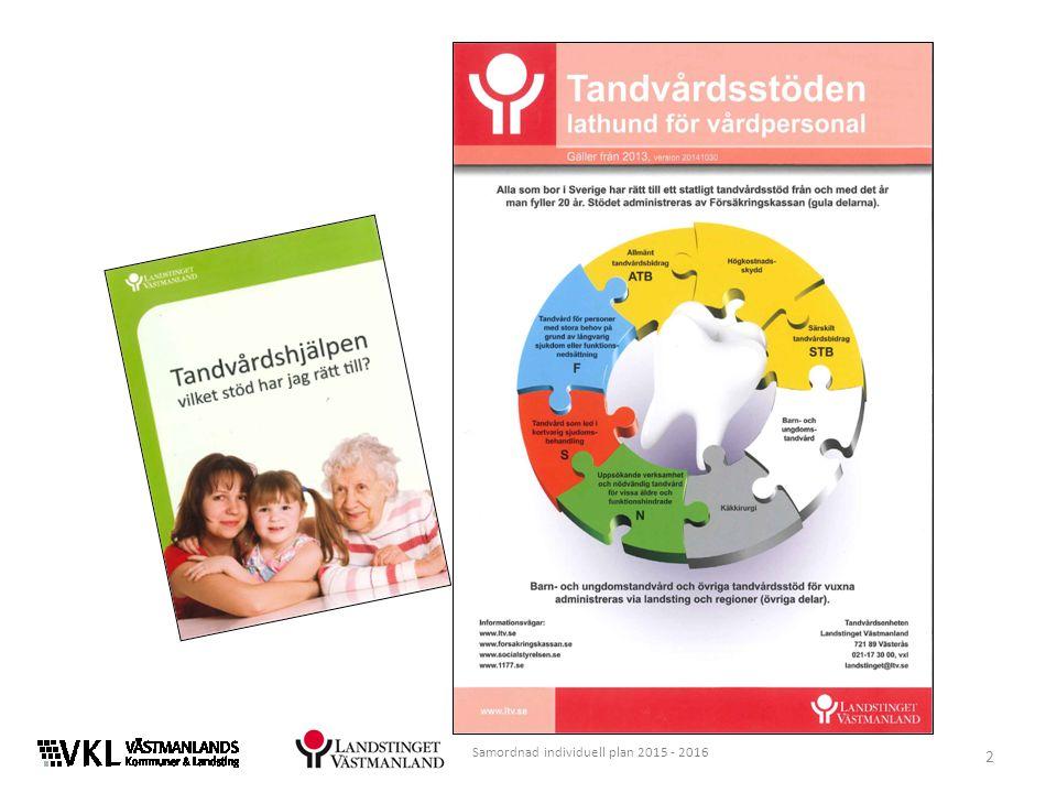 Välkommen till utbildning i samordnad individuell plan den enskildes egen plan Utbildningen ges till ca 2 000 medarbetare i Västmanland 3 Samordnad individuell plan 2015 - 2016