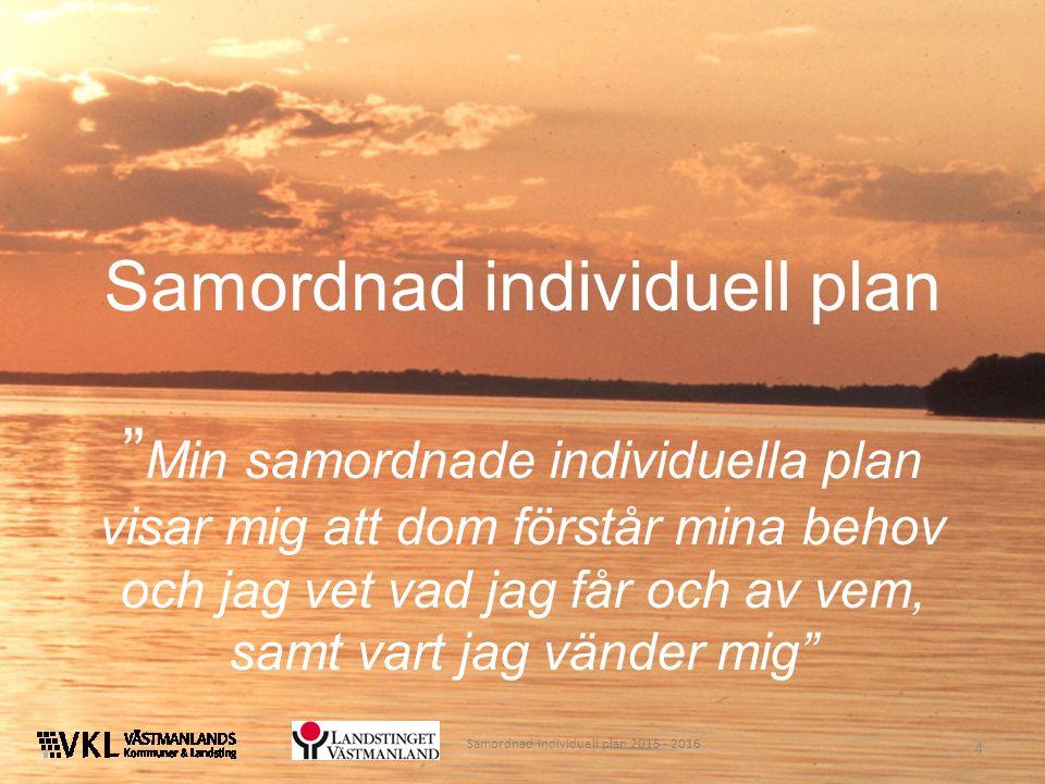 """4 Samordnad individuell plan """" Min samordnade individuella plan visar mig att dom förstår mina behov och jag vet vad jag får och av vem, samt vart jag"""