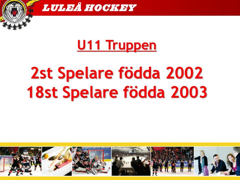 2st Spelare födda 2002 18st Spelare födda 2003 U11 Truppen