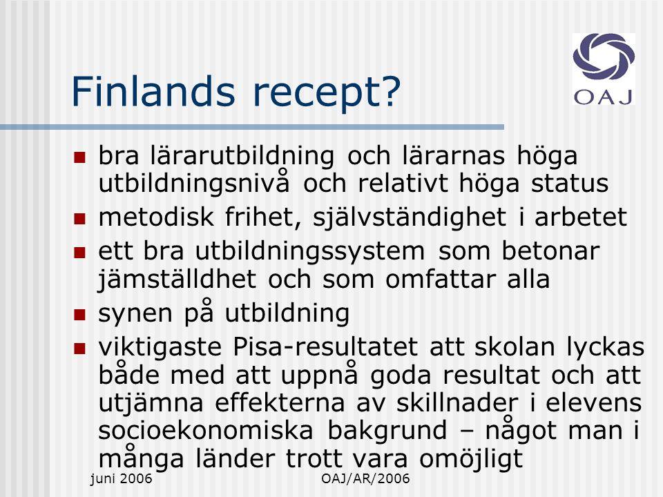 juni 2006OAJ/AR/2006 Finlands recept.
