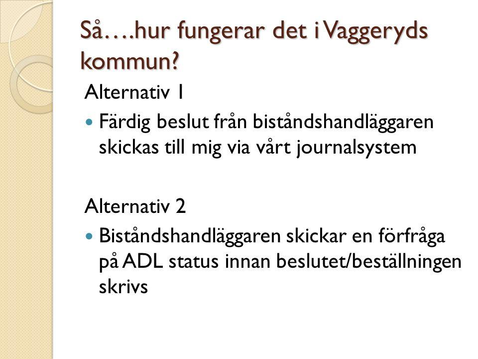 Så….hur fungerar det i Vaggeryds kommun.