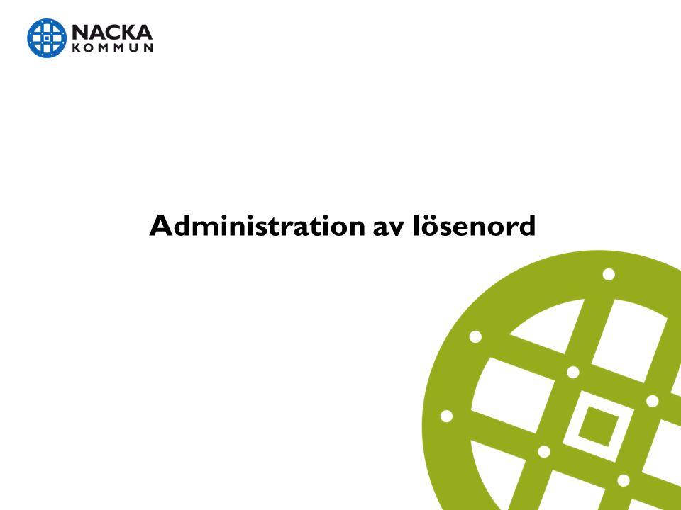 Administration av lösenord