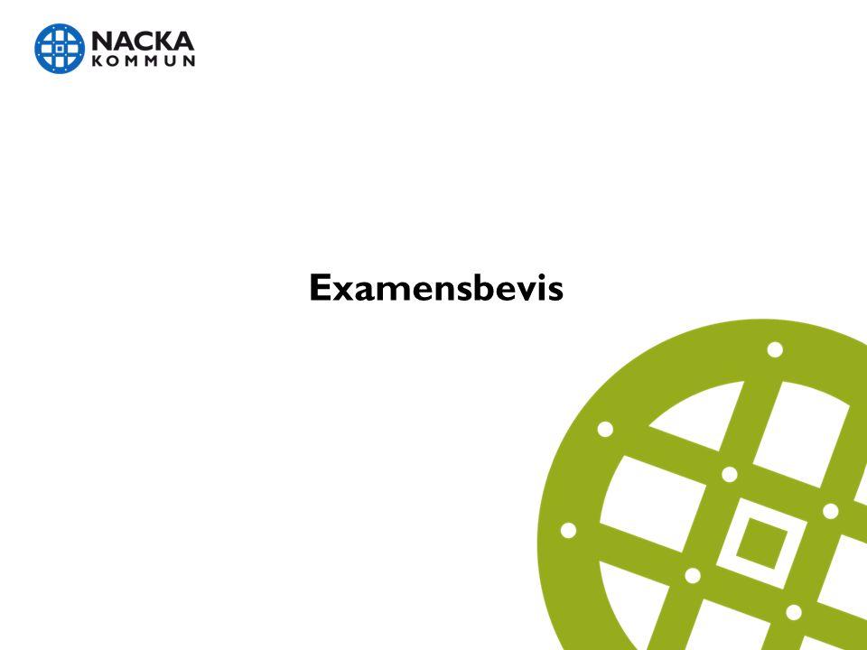 Examensbevis