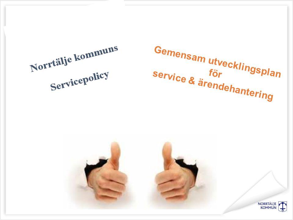Gemensam utvecklingsplan för service & ärendehantering