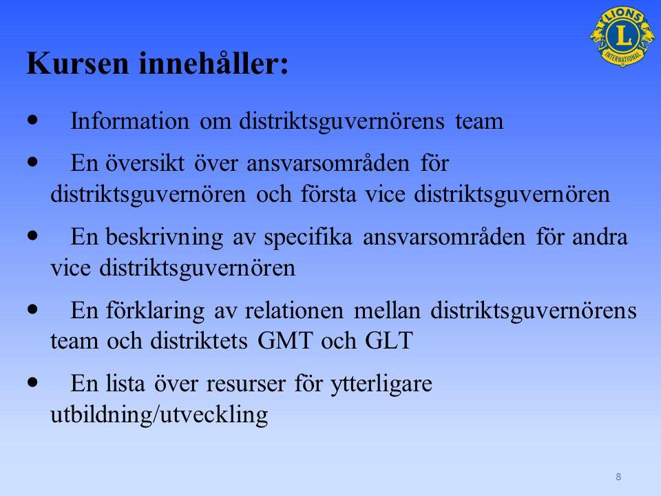 Distrikts- guvernörens team 9 Avsnitt 1 Gå till sidan 1 i arbetsboken.
