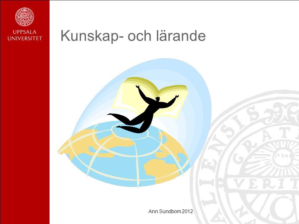 Ann Sundbom 2012 Kunskap- och lärande