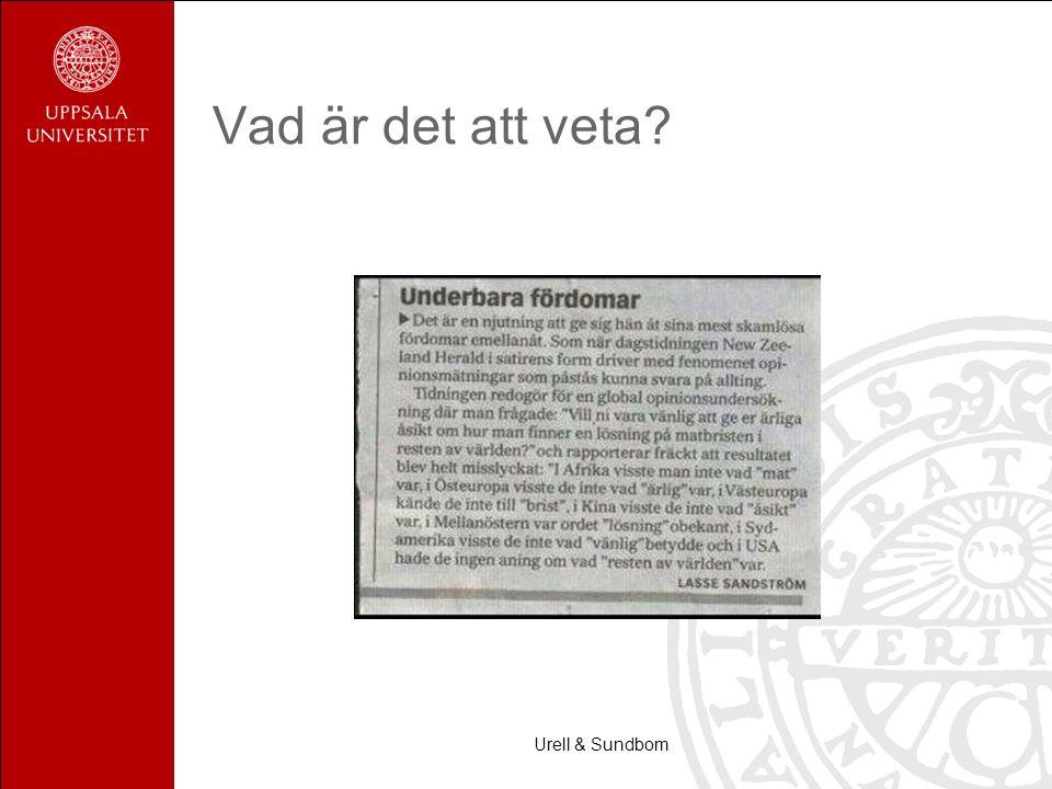 Vad är det att veta Urell & Sundbom