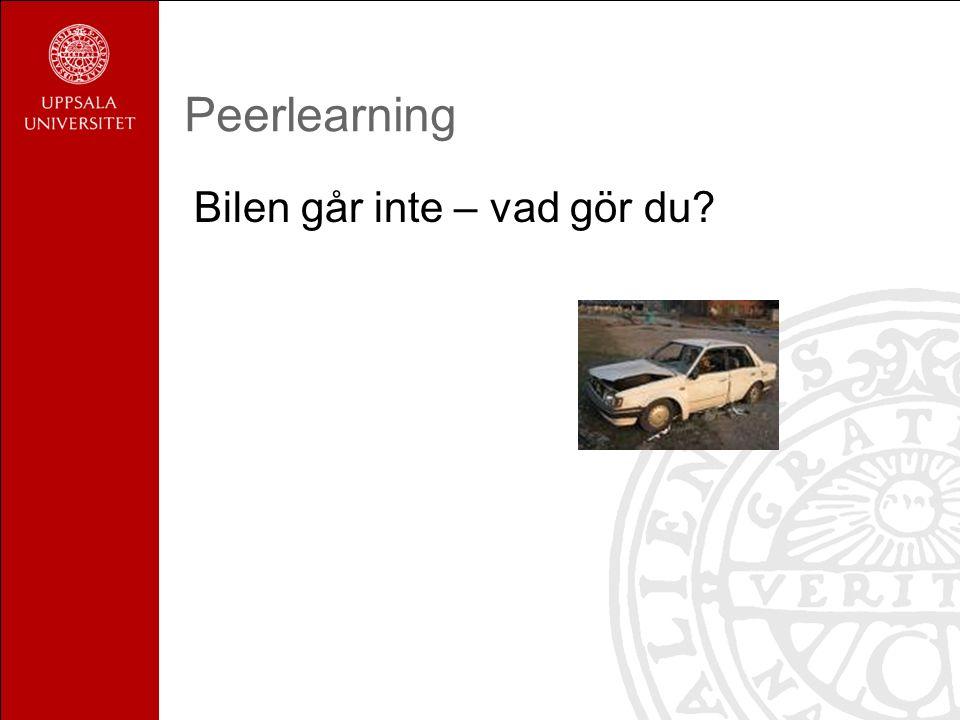 Peerlearning Bilen går inte – vad gör du?