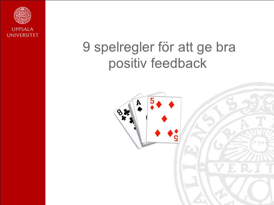9 spelregler för att ge bra positiv feedback