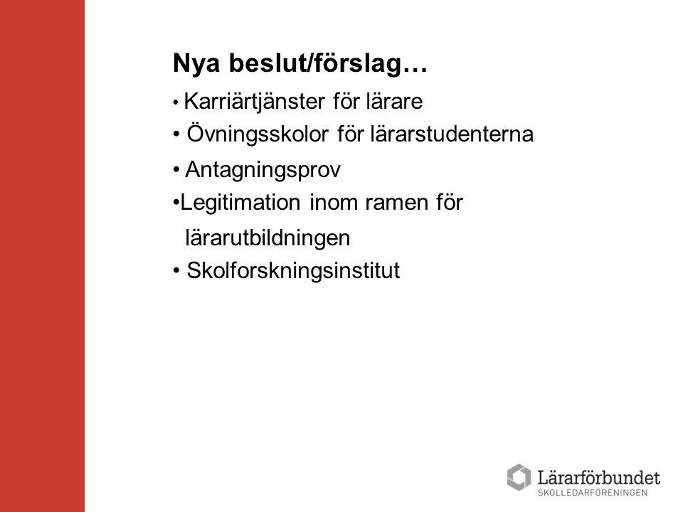 Landsrapport Sverige 2013 Löneavtalet för skolledare Accept för mer än andra Fyraårigt avtal, Utfall 2012: lägst 4,2%, därefter ej preciserade procentsatser Lokala förhandlingar i varje kommun En del kommuner utfall på 6-7 % Konkurrensfördel gentemot andra organisationer som landat på 2,6%