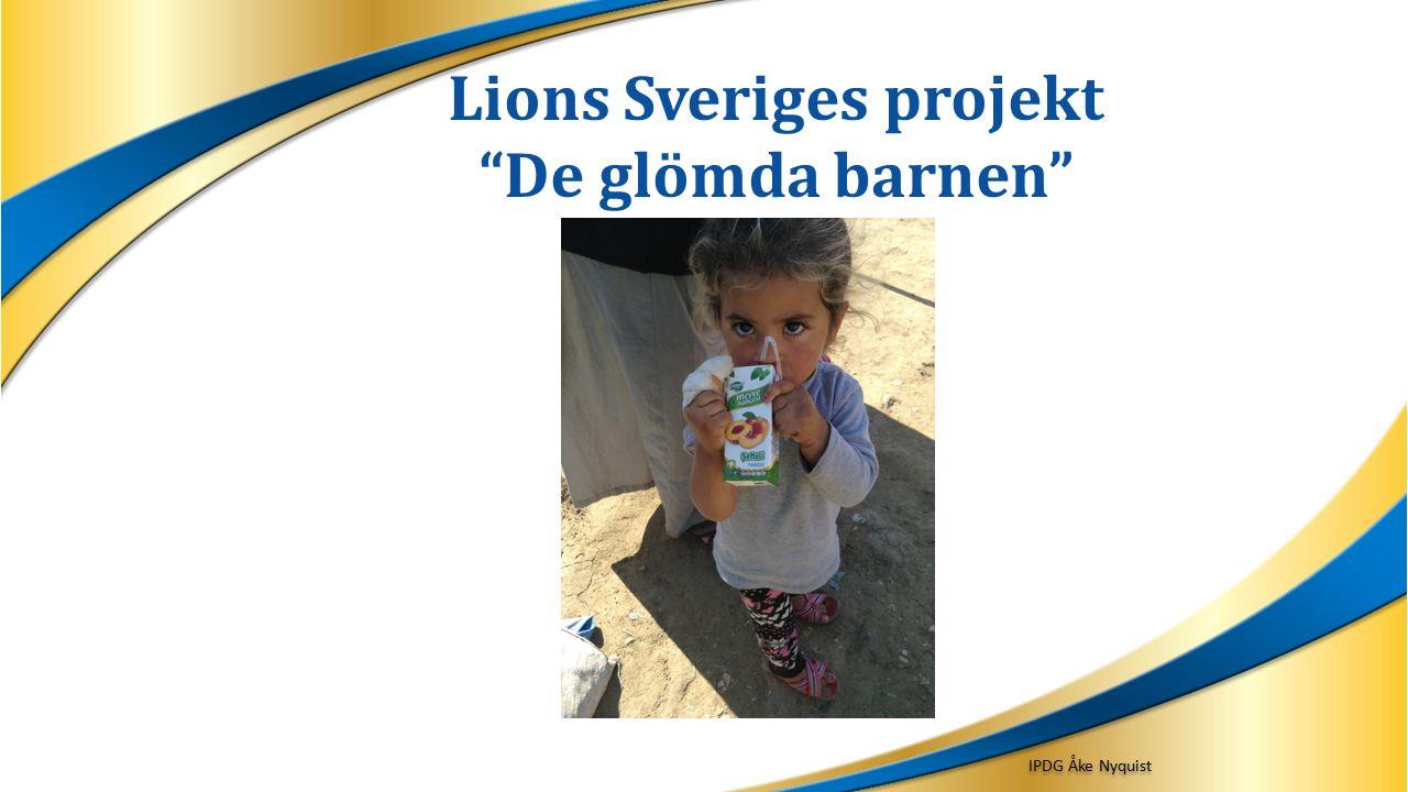 Lions Sveriges projekt De glömda barnen IPDG Åke Nyquist