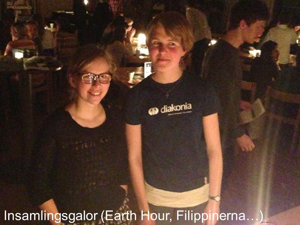 Insamlingsgalor (Earth Hour, Filippinerna…)