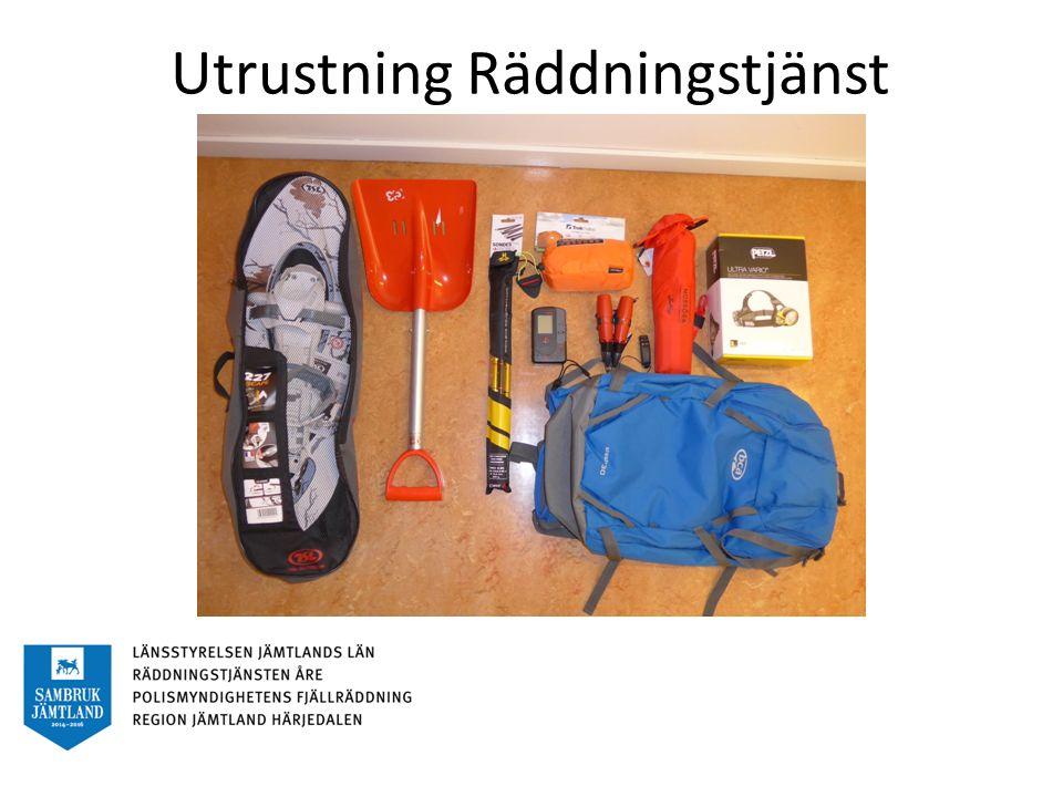 Utrustning Räddningstjänst