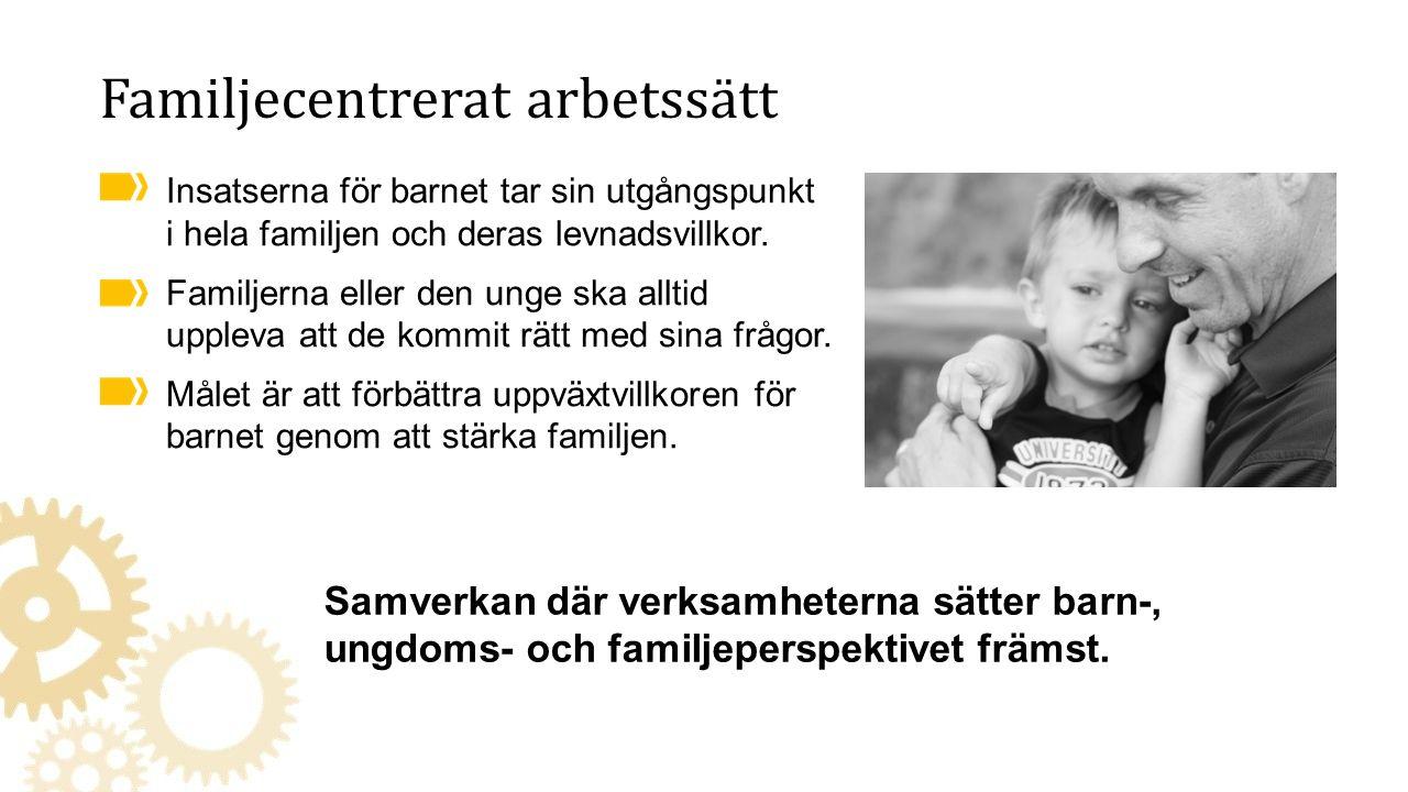 Insatserna för barnet tar sin utgångspunkt i hela familjen och deras levnadsvillkor.