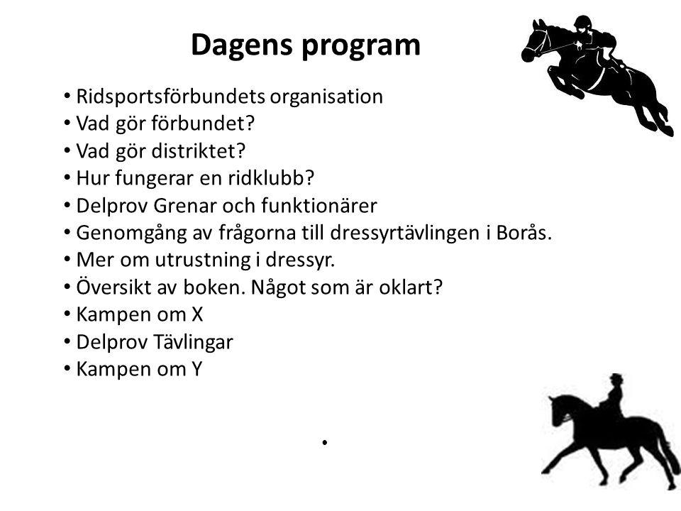 Dagens program Ridsportsförbundets organisation Vad gör förbundet.
