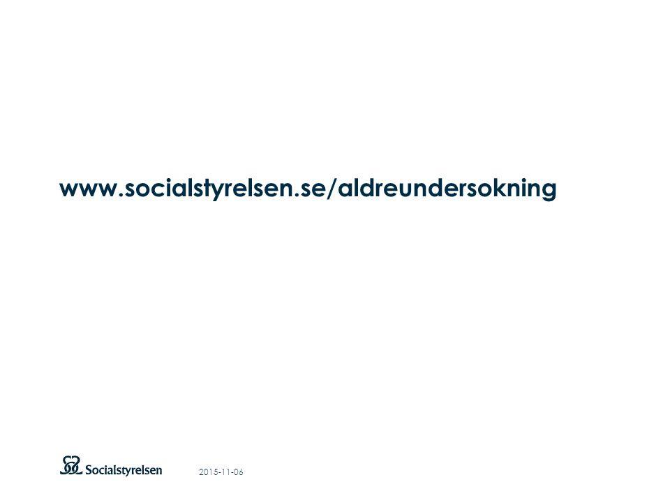 Att visa fotnot, datum, sidnummer Klicka på fliken Infoga och klicka på ikonen sidhuvud/sidfot Klistra in text: Klistra in texten, klicka på ikonen (Ctrl), välj Behåll endast text Rubrik: Century Gothic, bold 33pt www.socialstyrelsen.se/aldreundersokning 2015-11-06