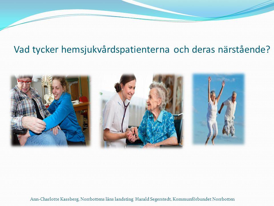 Vad tycker hemsjukvårdspatienterna och deras närstående.